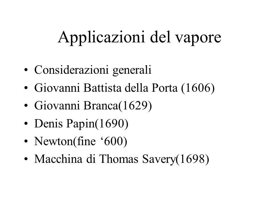 Applicazioni del vapore