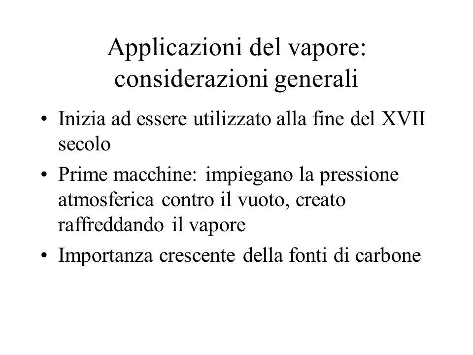 Applicazioni del vapore: considerazioni generali