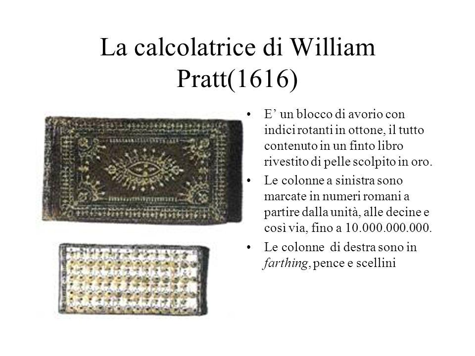 La calcolatrice di William Pratt(1616)