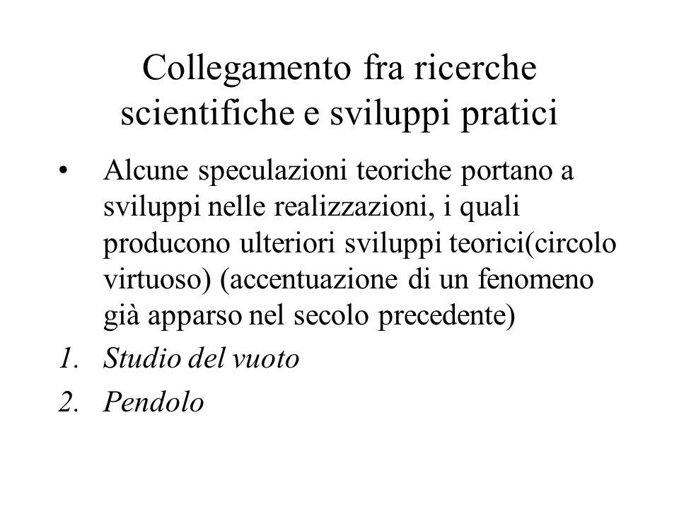 Collegamento fra ricerche scientifiche e sviluppi pratici