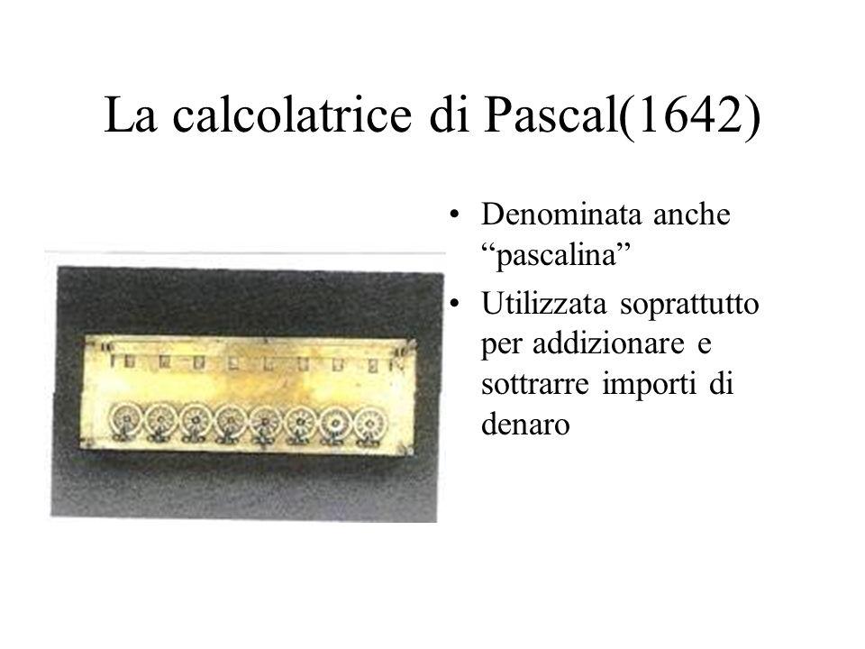 La calcolatrice di Pascal(1642)