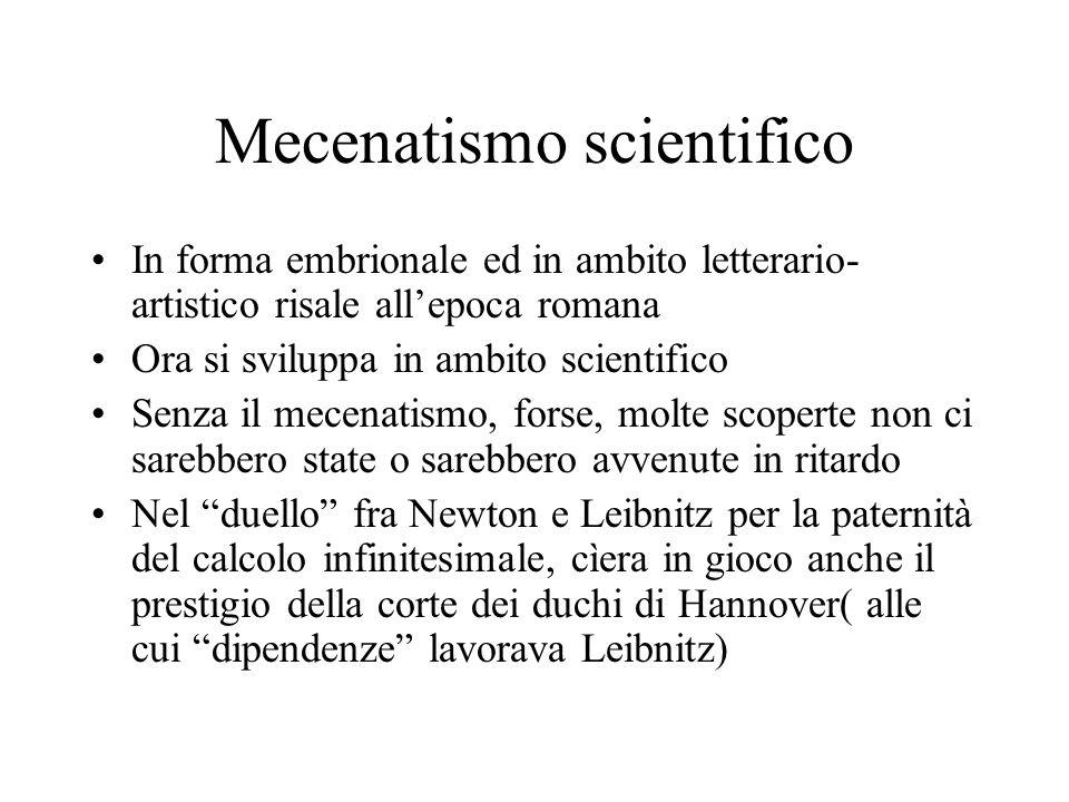 Mecenatismo scientifico