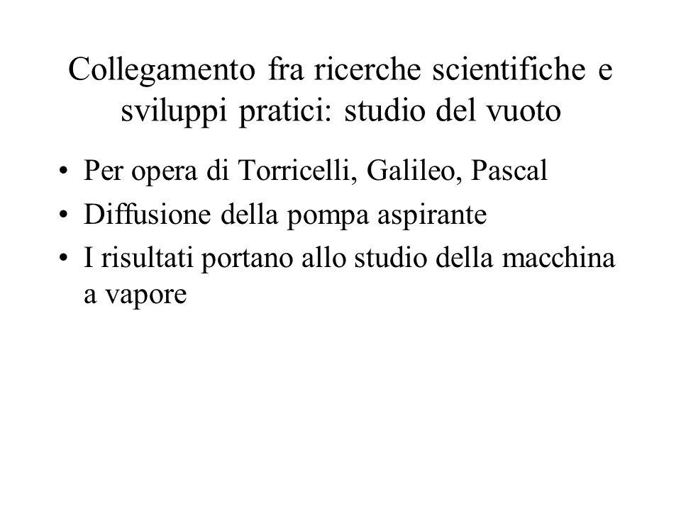 Collegamento fra ricerche scientifiche e sviluppi pratici: studio del vuoto