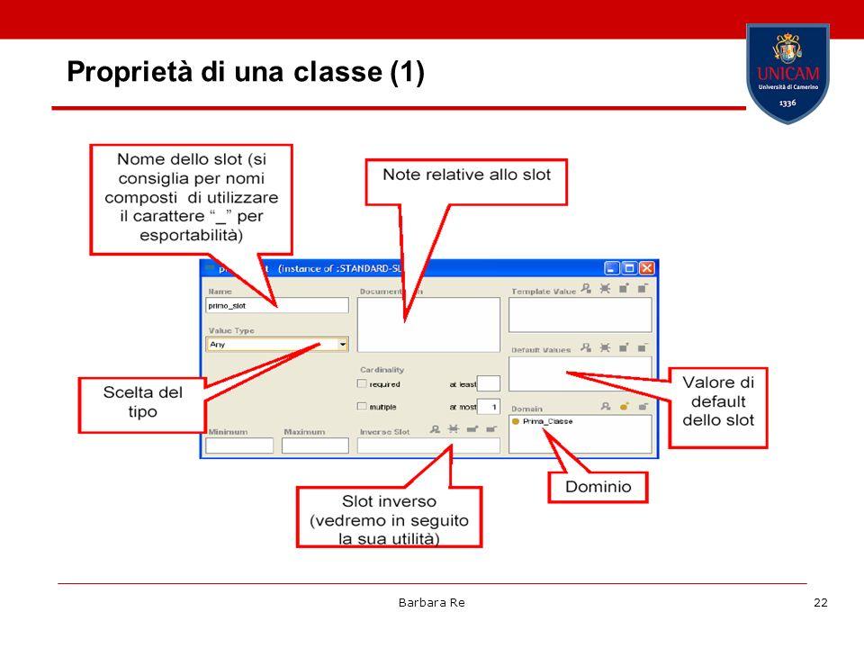 Proprietà di una classe (1)