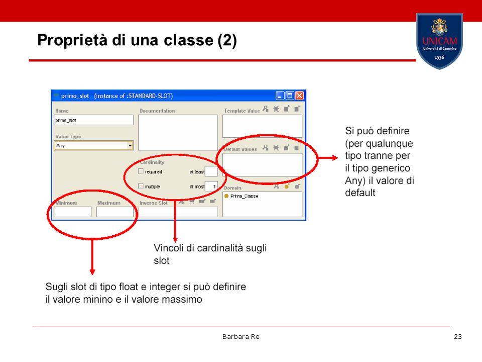 Proprietà di una classe (2)