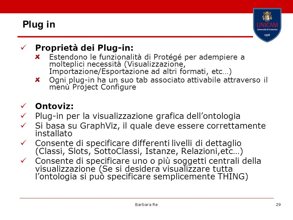 Plug in Proprietà dei Plug-in: Ontoviz:
