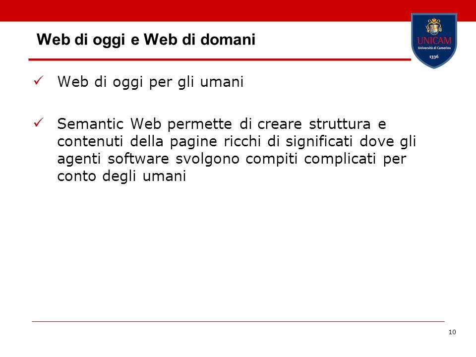 Web di oggi e Web di domani