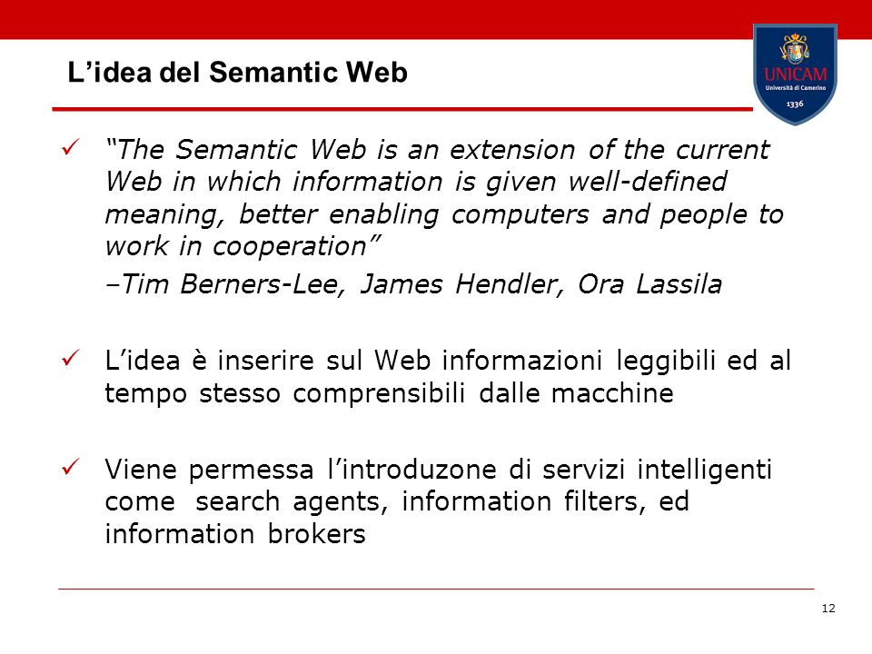 L'idea del Semantic Web