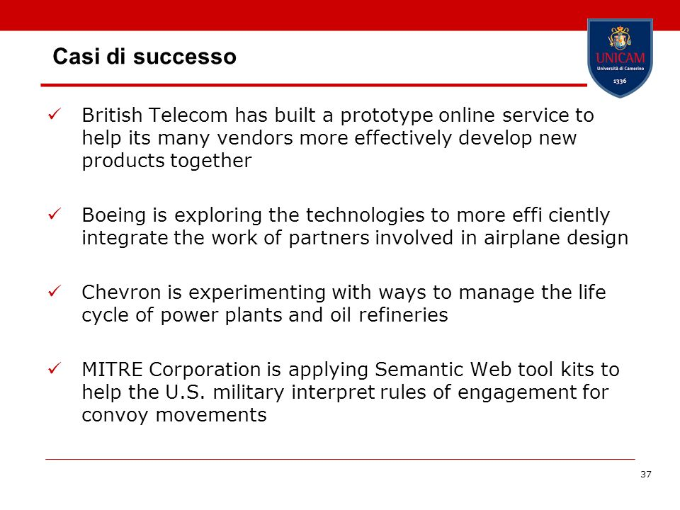 Casi di successo British Telecom has built a prototype online service to help its many vendors more effectively develop new products together.