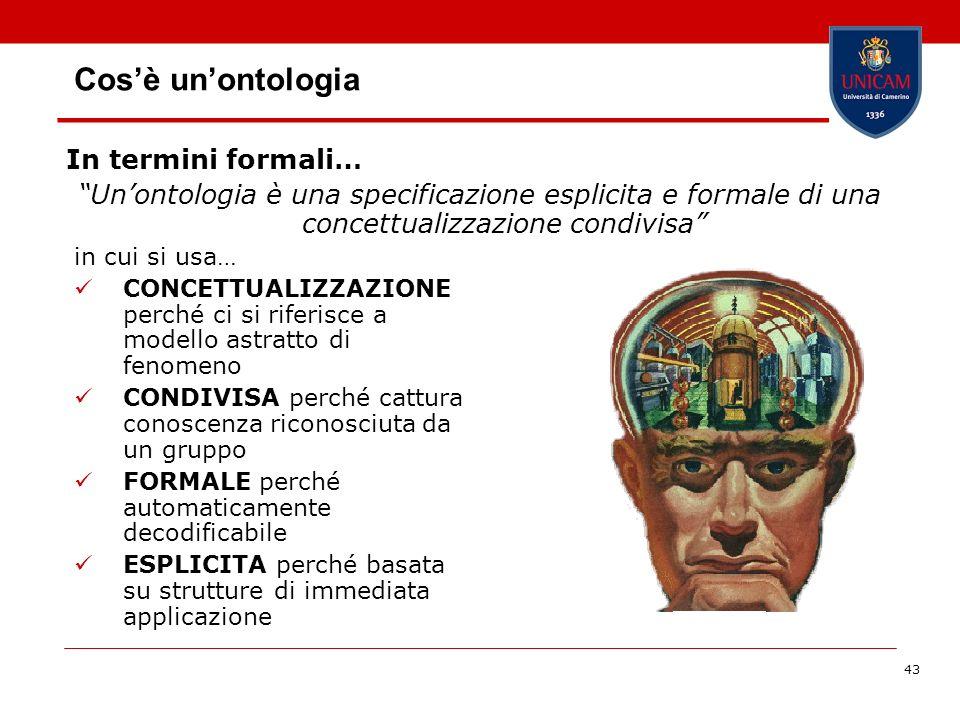 Cos'è un'ontologia In termini formali…