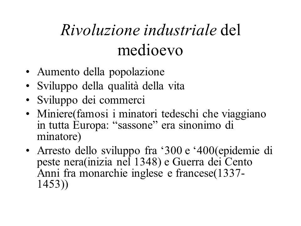 Rivoluzione industriale del medioevo