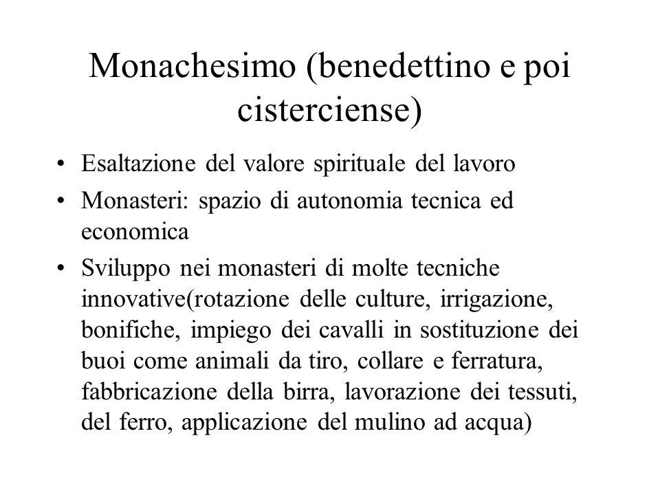 Monachesimo (benedettino e poi cisterciense)