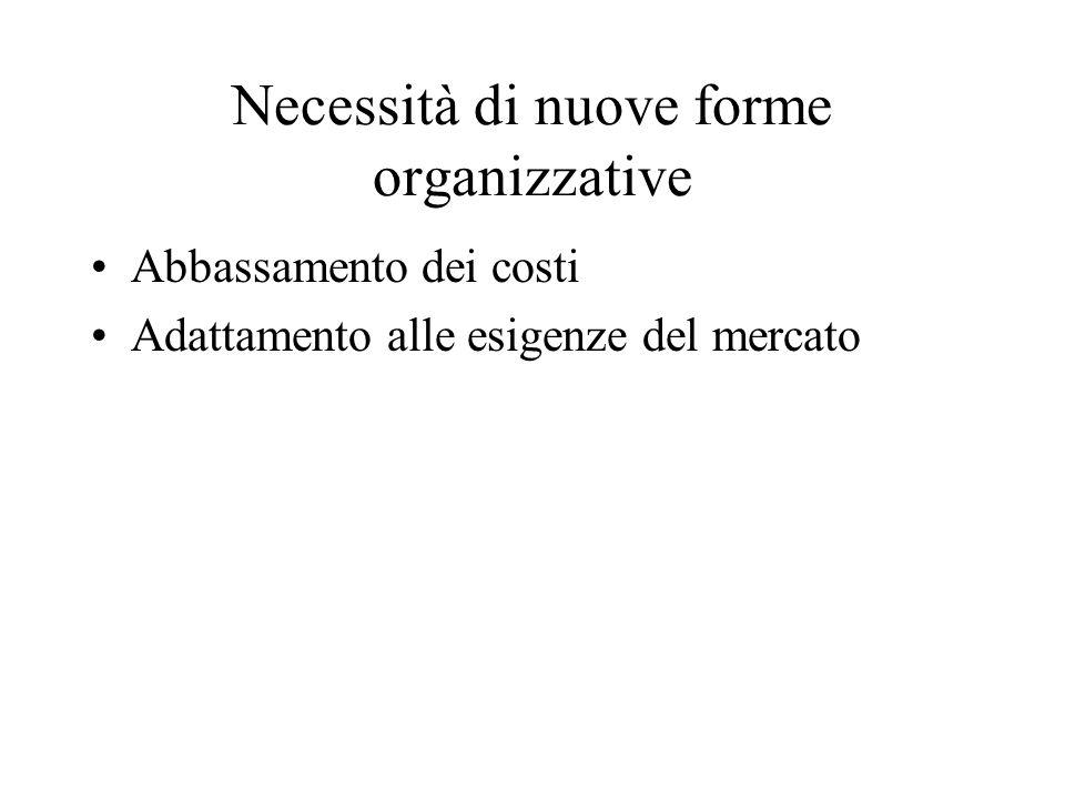 Necessità di nuove forme organizzative