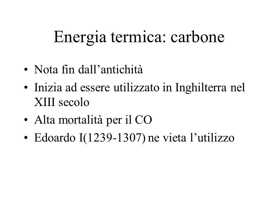 Energia termica: carbone