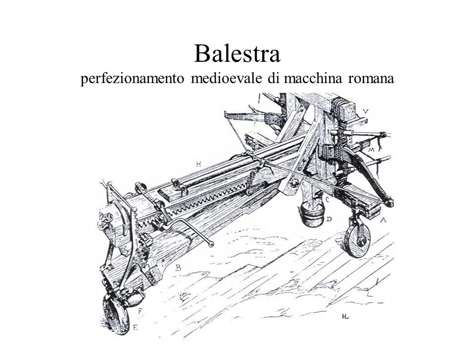 Balestra perfezionamento medioevale di macchina romana