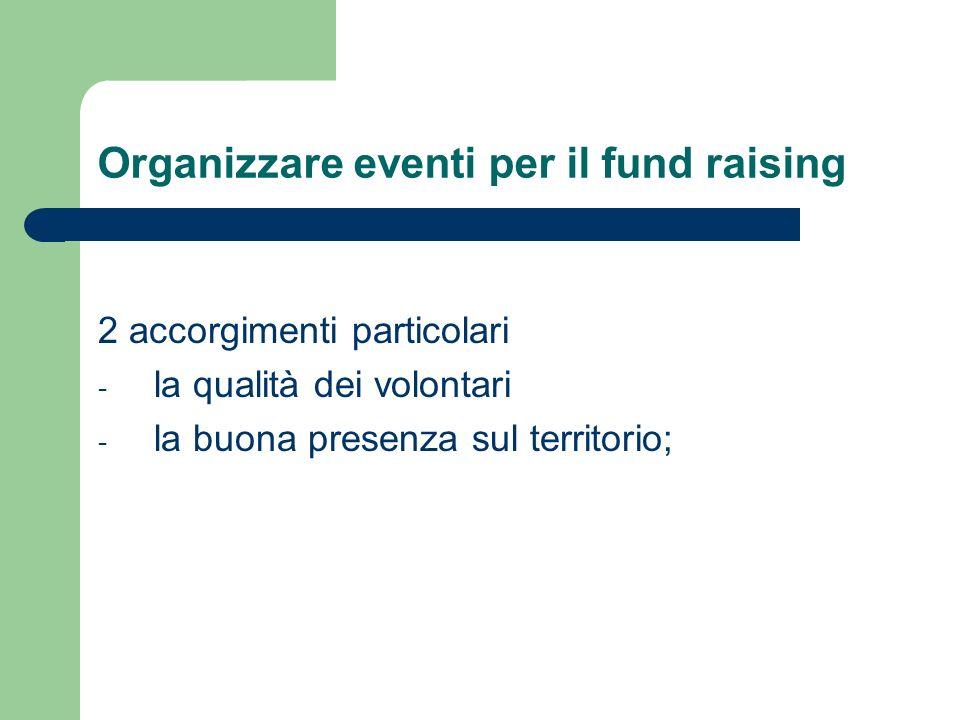 Organizzare eventi per il fund raising