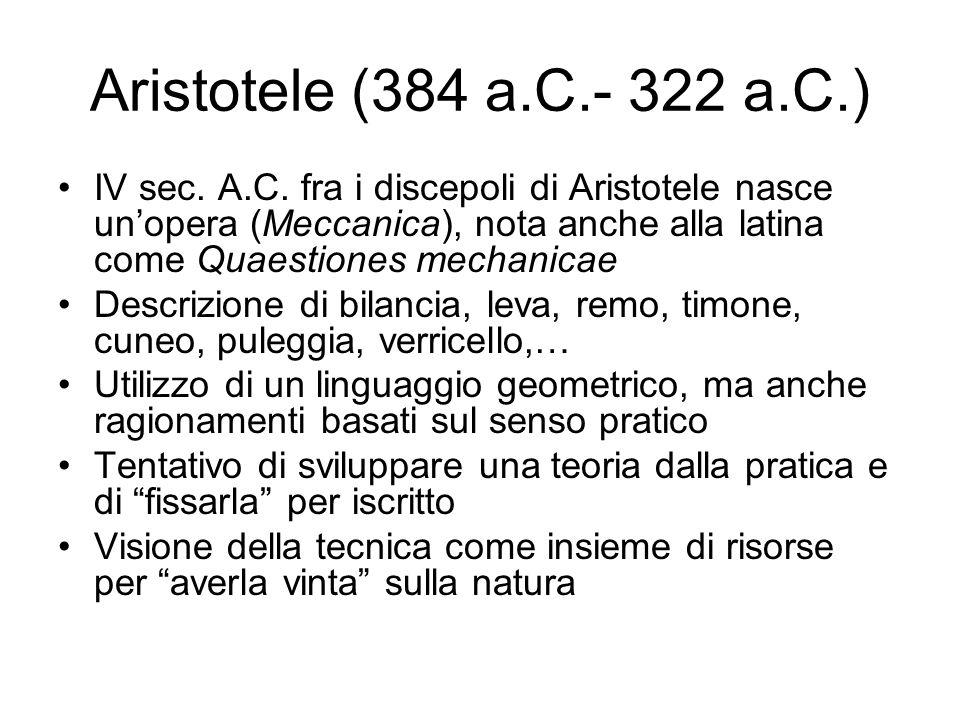 Aristotele (384 a.C.- 322 a.C.)