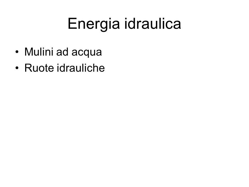 Energia idraulica Mulini ad acqua Ruote idrauliche