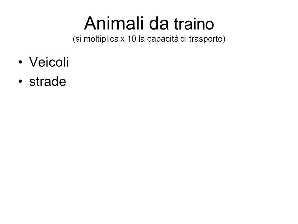 Animali da traino (si moltiplica x 10 la capacità di trasporto)