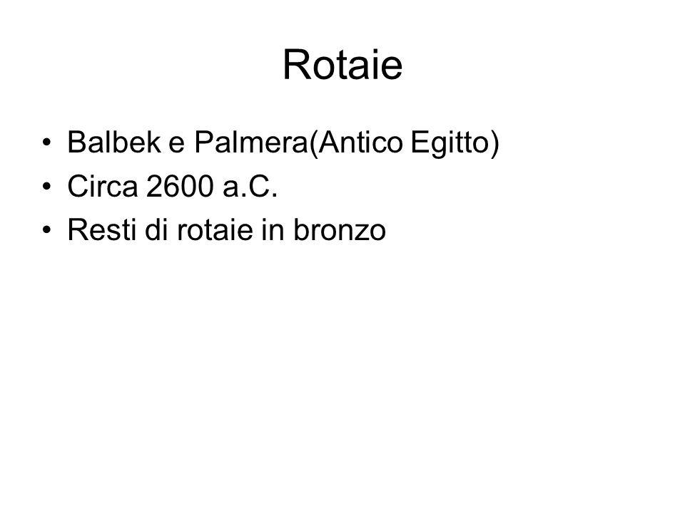 Rotaie Balbek e Palmera(Antico Egitto) Circa 2600 a.C.