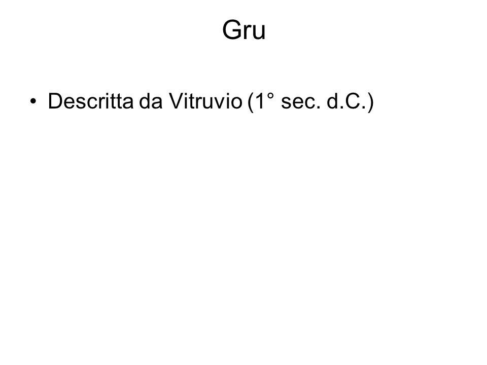 Gru Descritta da Vitruvio (1° sec. d.C.)