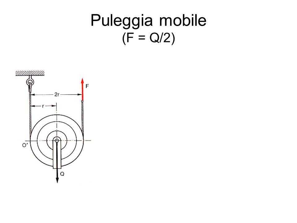Puleggia mobile (F = Q/2)