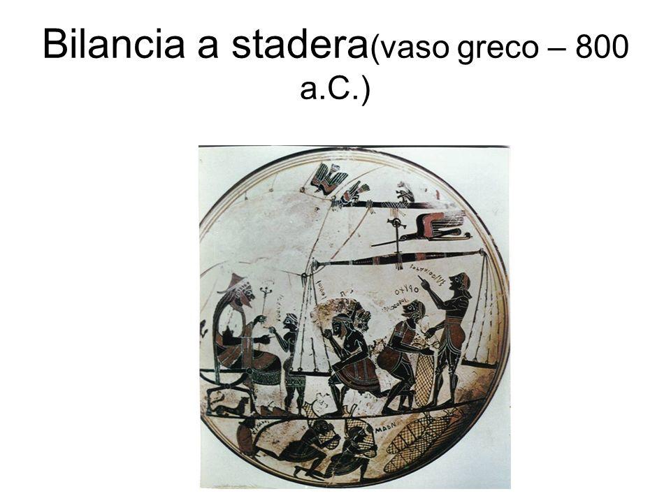 Bilancia a stadera(vaso greco – 800 a.C.)