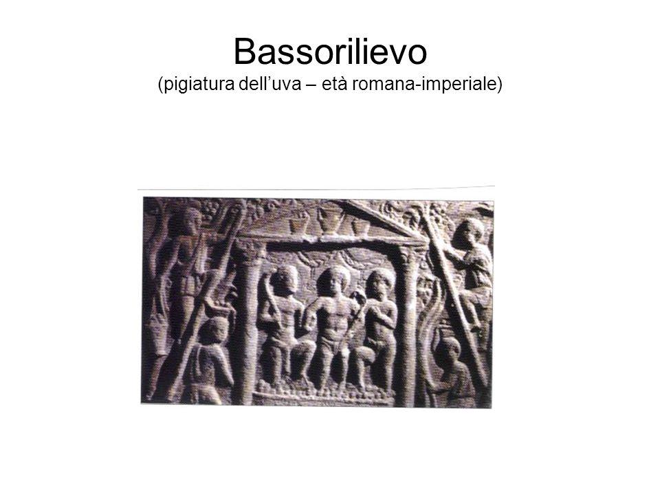 Bassorilievo (pigiatura dell'uva – età romana-imperiale)