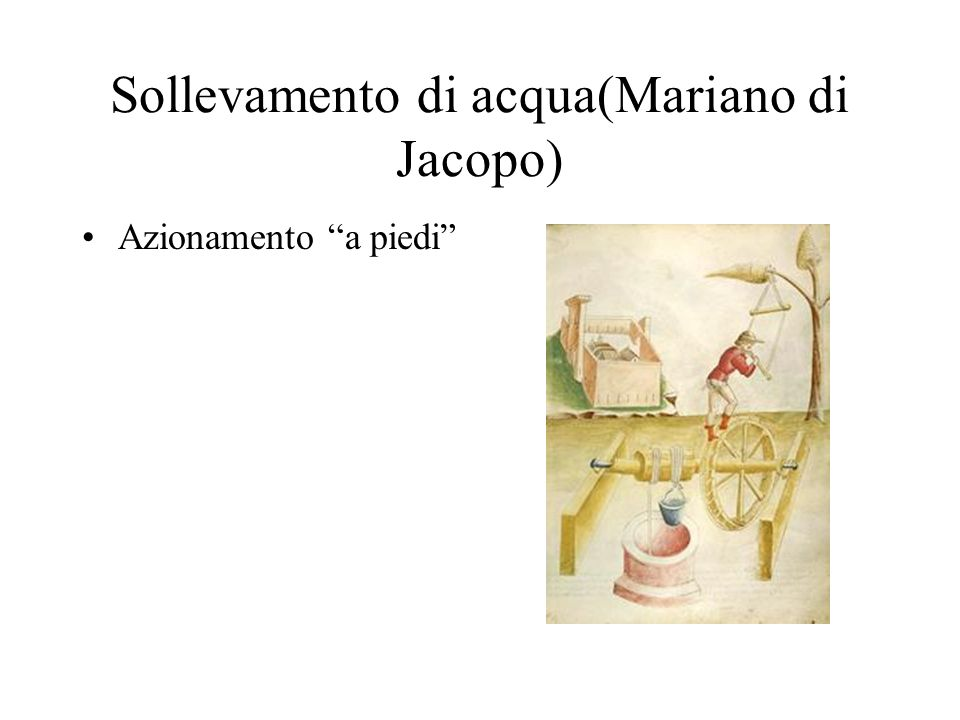 Sollevamento di acqua(Mariano di Jacopo)