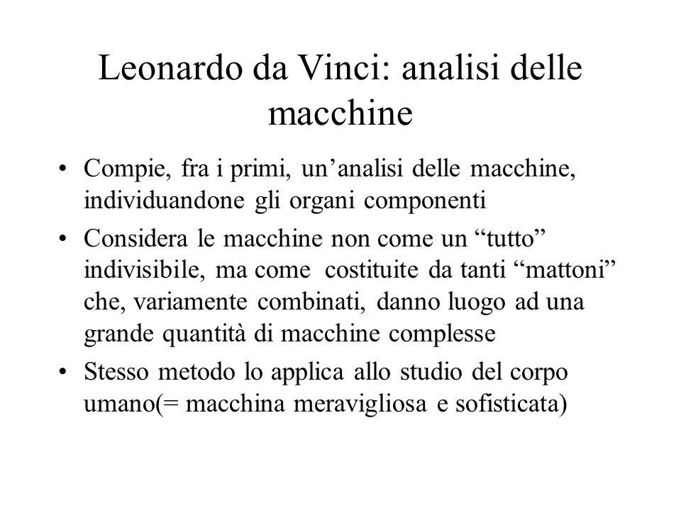 Leonardo da Vinci: analisi delle macchine