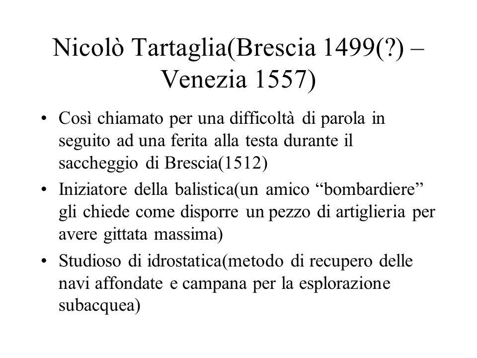 Nicolò Tartaglia(Brescia 1499( ) – Venezia 1557)