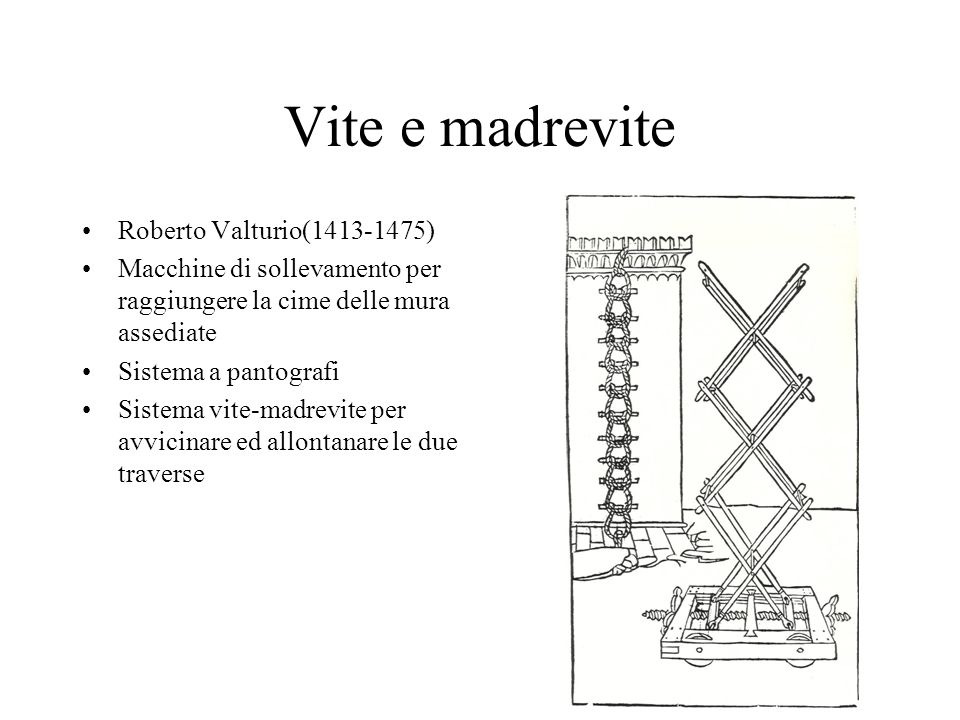 Vite e madrevite Roberto Valturio(1413-1475)
