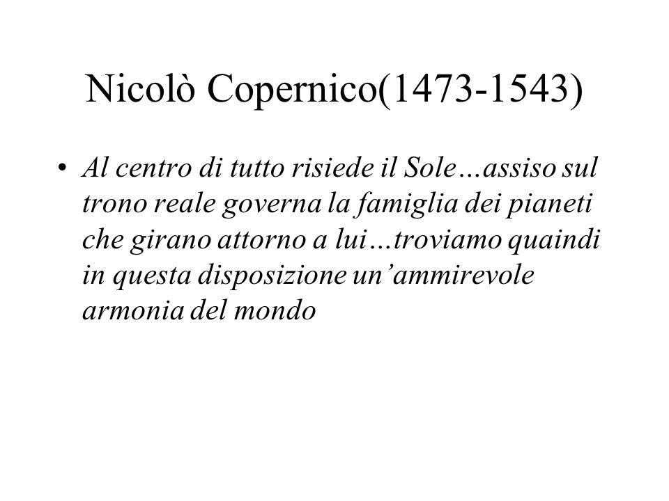 Nicolò Copernico(1473-1543)
