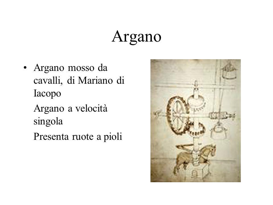 Argano Argano mosso da cavalli, di Mariano di Iacopo