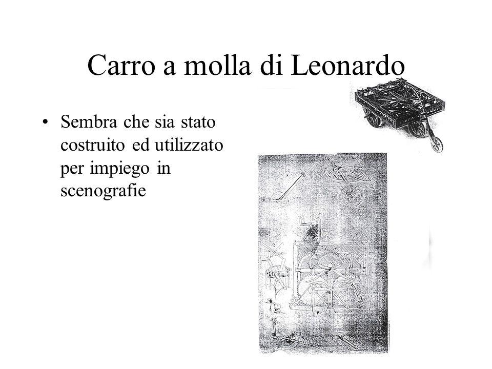 Carro a molla di Leonardo