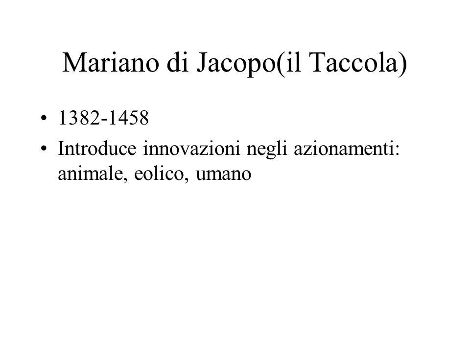 Mariano di Jacopo(il Taccola)