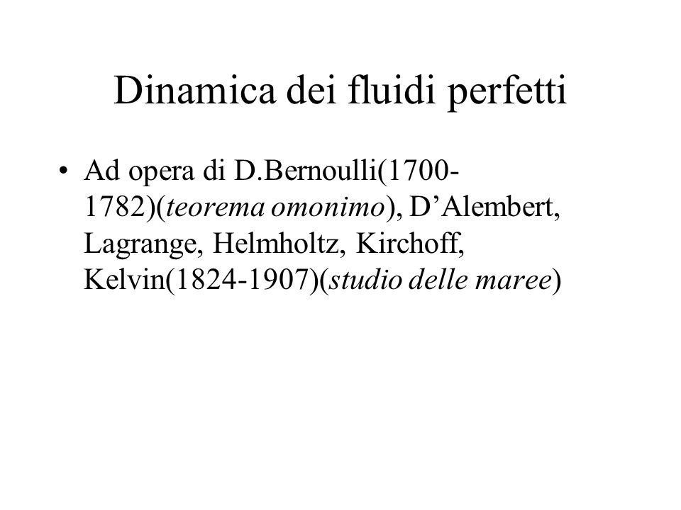 Dinamica dei fluidi perfetti