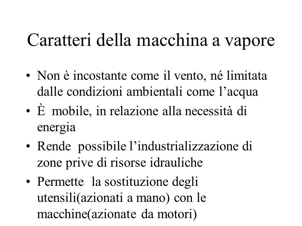 Caratteri della macchina a vapore