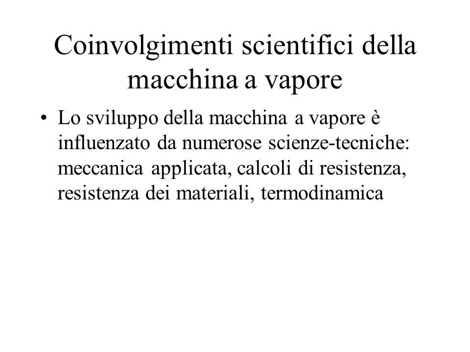 Coinvolgimenti scientifici della macchina a vapore