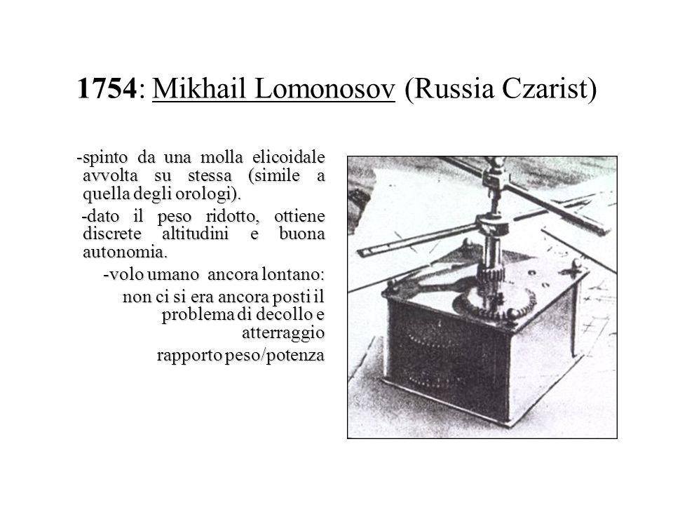 1754: Mikhail Lomonosov (Russia Czarist)