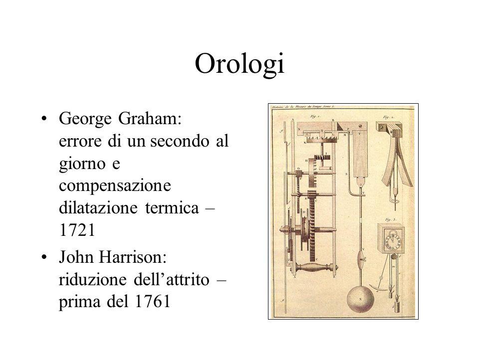Orologi George Graham: errore di un secondo al giorno e compensazione dilatazione termica – 1721.