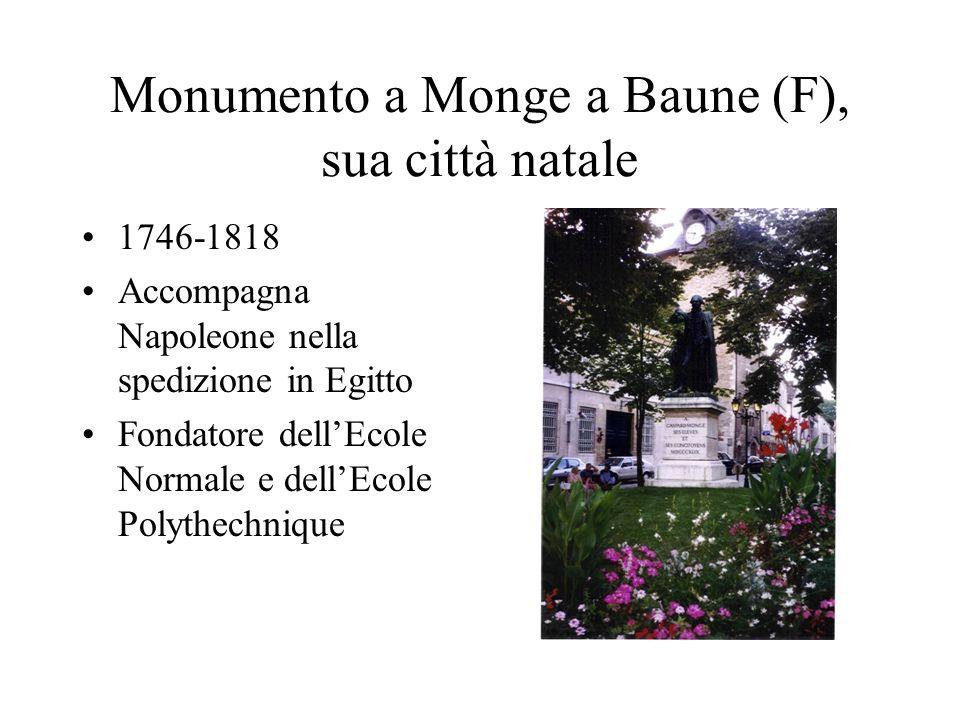 Monumento a Monge a Baune (F), sua città natale