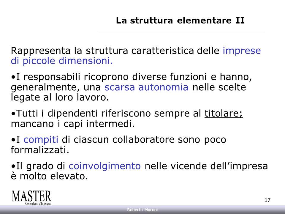La struttura elementare II