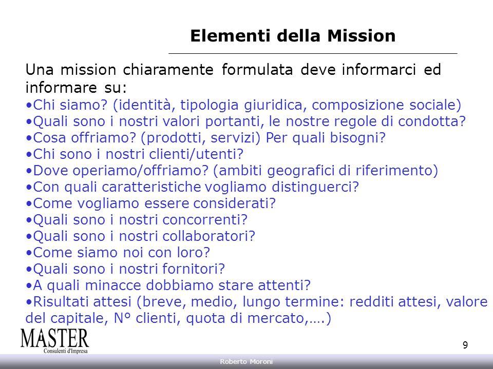 Elementi della Mission