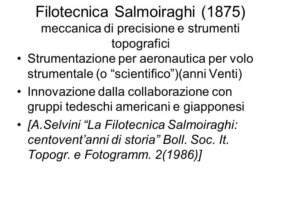 Filotecnica Salmoiraghi (1875) meccanica di precisione e strumenti topografici