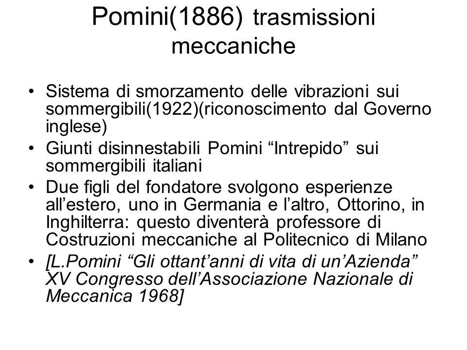 Pomini(1886) trasmissioni meccaniche