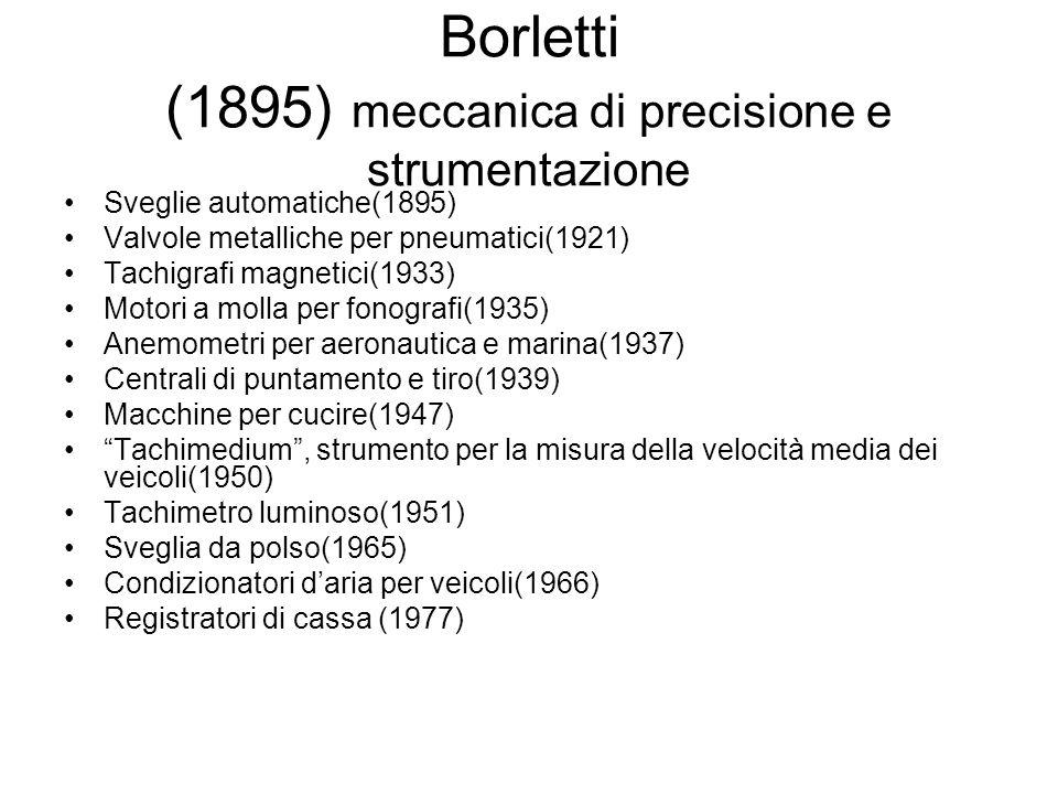 Borletti (1895) meccanica di precisione e strumentazione