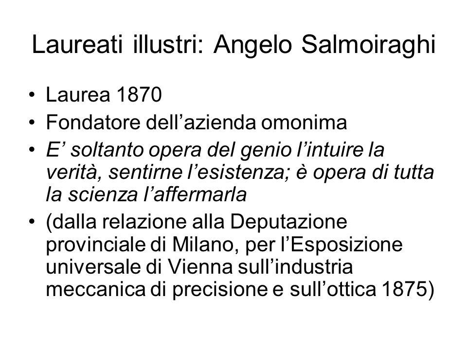 Laureati illustri: Angelo Salmoiraghi