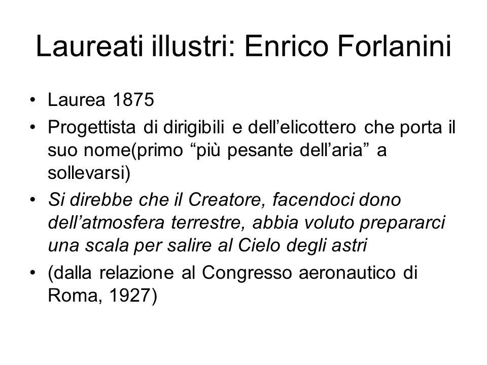 Laureati illustri: Enrico Forlanini