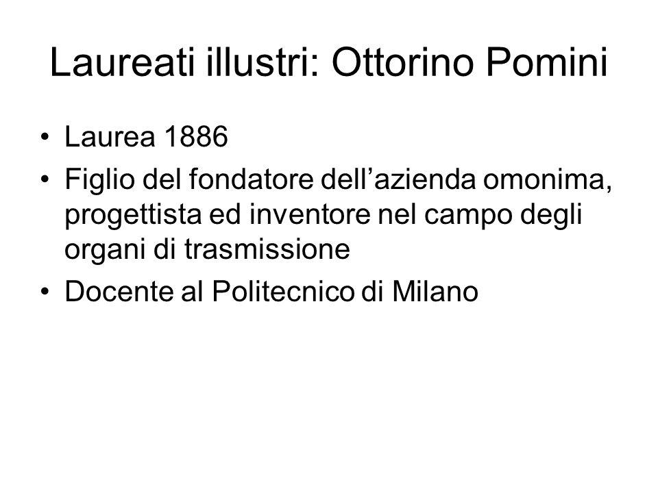 Laureati illustri: Ottorino Pomini
